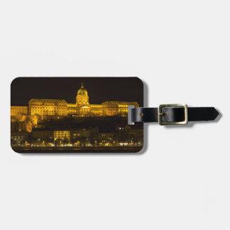 Etiqueta De Bagagem Castelo Hungria Budapest de Buda na noite