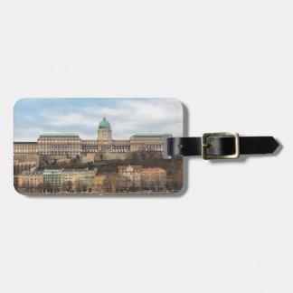 Etiqueta De Bagagem Castelo Hungria Budapest de Buda no dia