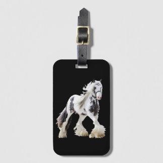 Etiqueta De Bagagem Cavalo de esboço aciganado do garanhão da égua