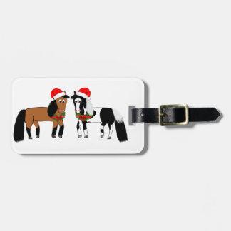 Etiqueta De Bagagem Cavalos do Natal