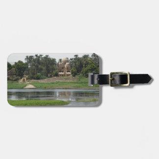 Etiqueta De Bagagem Cena de Nile do rio