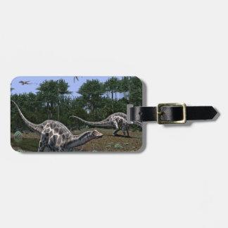 Etiqueta De Bagagem Cena do Dicraeosaurus