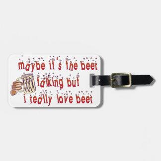 Etiqueta De Bagagem Cerveja engraçada do amor