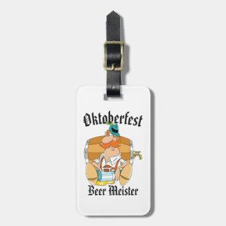 Etiqueta De Bagagem Cerveja Meister de Oktoberfest