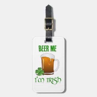 Etiqueta De Bagagem Cerveja mim eu sou irlandês