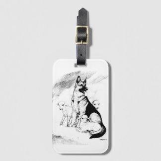 Etiqueta De Bagagem Céu do cão, o rebanho do mestre