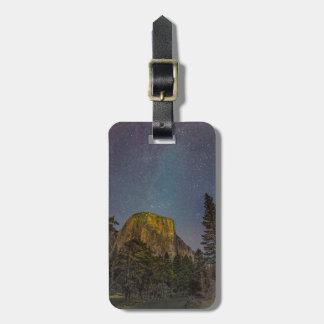Etiqueta De Bagagem Céu nocturno do EL Capitan do vale de Yosemite