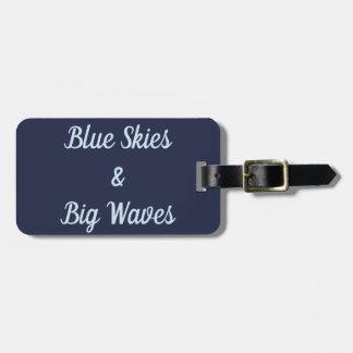 Etiqueta De Bagagem Céus azuis e Tag grande da bagagem das ondas