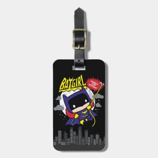 Etiqueta De Bagagem Chibi Batgirl pronto para a ação