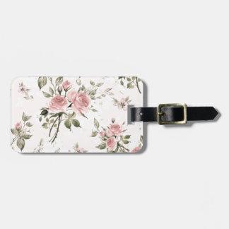 Etiqueta De Bagagem Chique, chique francês, vintage, floral, rústico,