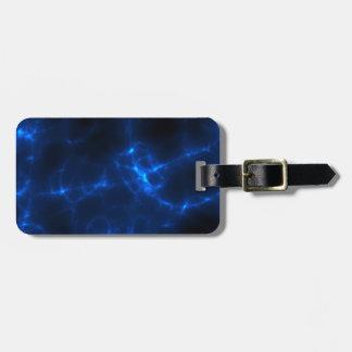 Etiqueta De Bagagem Choque eléctrico em azul escuro