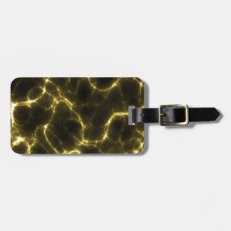 Etiqueta De Bagagem Choque eléctrico no amarelo