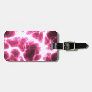 Etiqueta De Bagagem Choque eléctrico no rosa
