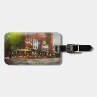 Etiqueta De Bagagem Cidade - Washington DC - vida na 7a rua 1912