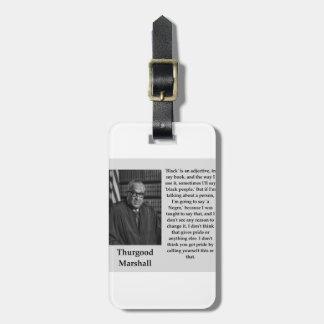 Etiqueta De Bagagem Citações de Thurgood Marshall