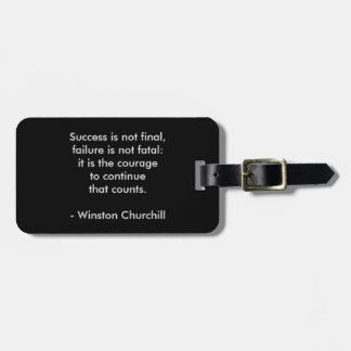 Etiqueta De Bagagem Citações de Winston Churchill; Sucesso