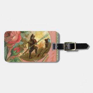 Etiqueta De Bagagem Cobrir do sapador-bombeiro do bombeiro dos 1880's
