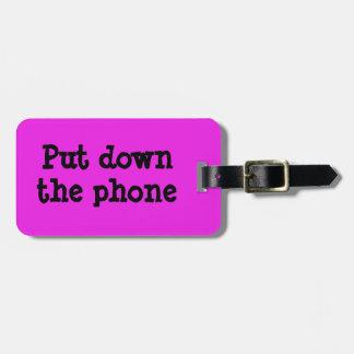 Etiqueta De Bagagem Coloque o Tag do telefone