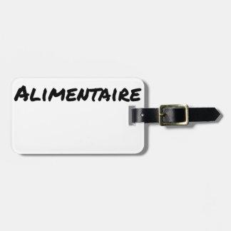 Etiqueta De Bagagem COMPLEMENTO ALIMENTAR - Jogos de palavras