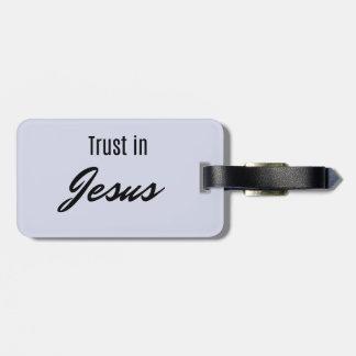 Etiqueta De Bagagem Confiança em Jesus