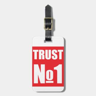 Etiqueta De Bagagem Confiança ninguém