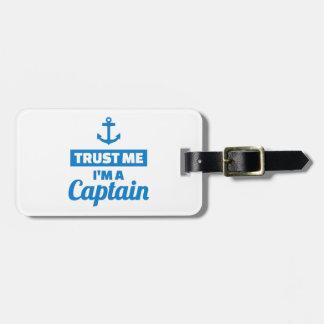 Etiqueta De Bagagem Confie que eu mim é um capitão