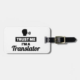 Etiqueta De Bagagem Confie que eu mim é um tradutor
