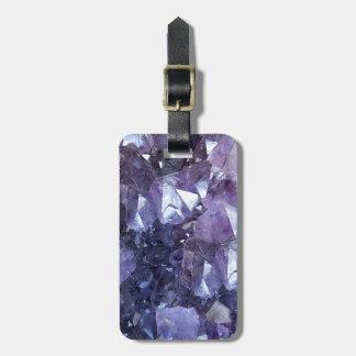 Etiqueta De Bagagem Conjunto de cristal Amethyst