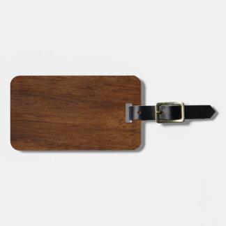 Etiqueta De Bagagem Construção áspera da textura de madeira