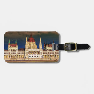 Etiqueta De Bagagem Construção húngara do parlamento em Budapest,