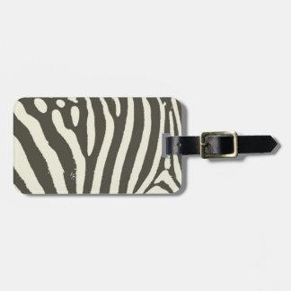 Etiqueta De Bagagem Contemporâneo moderno do impressão macio da zebra