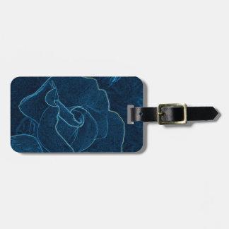 Etiqueta De Bagagem contorno do rosa do azul