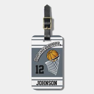 Etiqueta De Bagagem Cor personalizada do basquetebol DIY