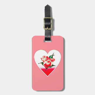 Etiqueta De Bagagem Coração do Rosebud