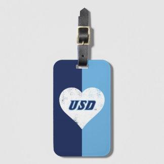 Etiqueta De Bagagem Coração do vintage de USD