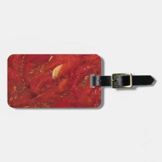 Etiqueta De Bagagem Cozinhando o molho de tomate caseiro