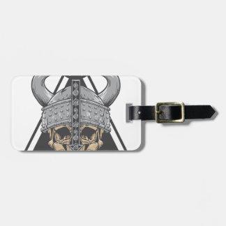 Etiqueta De Bagagem Crânio de Viking