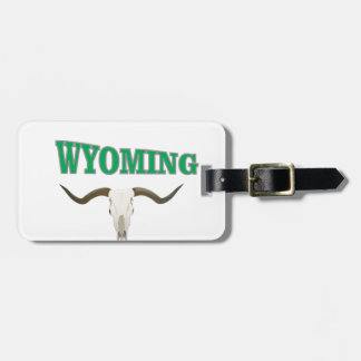 Etiqueta De Bagagem Crânio de Wyoming