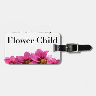 Etiqueta De Bagagem Criança de flor selvagem viva