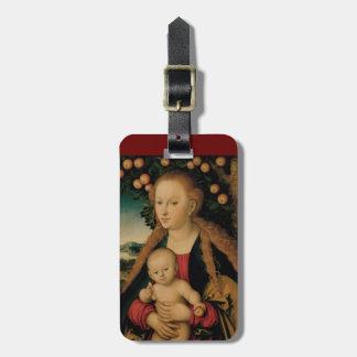 Etiqueta De Bagagem Criança do Virgin sob a árvore de Apple Cranach