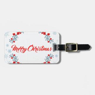 Etiqueta De Bagagem cumprimento do Natal do Feliz Natal