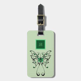 Etiqueta De Bagagem Dança 3 da borboleta