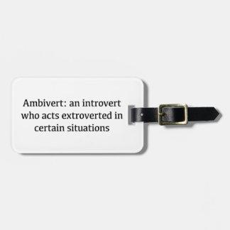 Etiqueta De Bagagem Definição de Ambivert