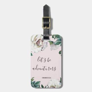 """Etiqueta De Bagagem """"Deixe-nos ser Tag floral bonito da bagagem dos"""
