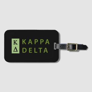 Etiqueta De Bagagem Delta do Kappa empilhado