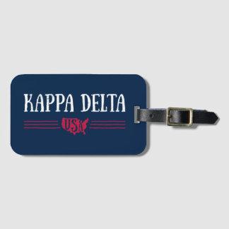 Etiqueta De Bagagem Delta EUA do Kappa