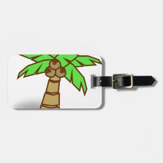 Etiqueta De Bagagem Desenho da palmeira