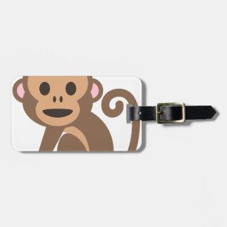 Etiqueta De Bagagem Desenhos animados felizes do macaco