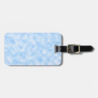 Etiqueta De Bagagem Design azul e branco criado das nuvens