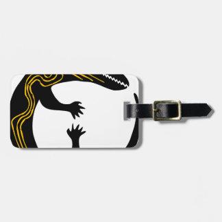 Etiqueta De Bagagem design branco do preto da inspiração da arte do